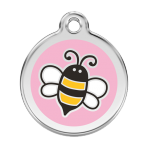 Pink Bumble Bee Pet Tag