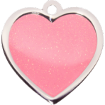 Pink Sparkle Heart Large