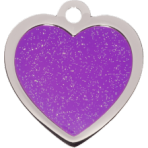 Purple Sparkle Heart Small
