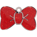 Red Sparkle Bow Tie Small