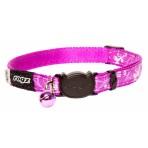 Rogz Silky Cat Collar 11mm - Purple Filigree