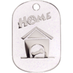 White Sparkle Home Tag Small