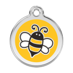 Yellow Bumble Bee Pet Tag
