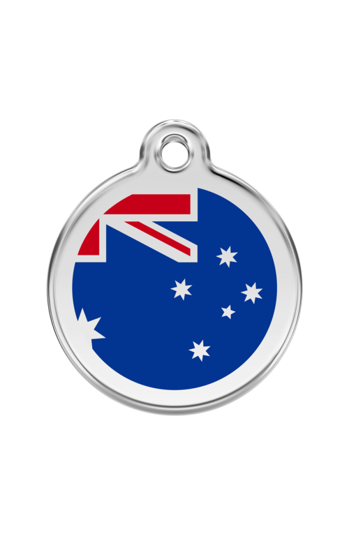 Dark Blue Australian Flag Pet Tag