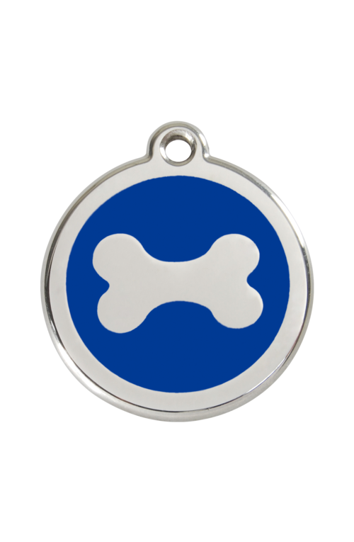 Dark Blue Bone Pet Tag