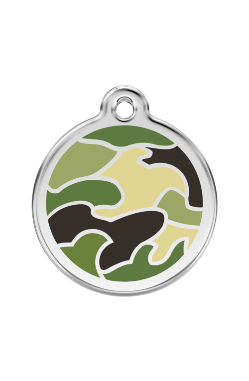 Green Camouflage Pet Tag