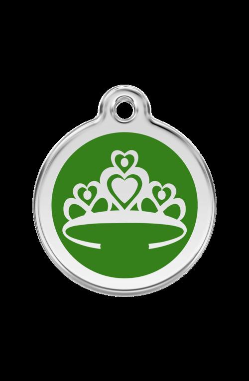 Green Crown Pet Tag