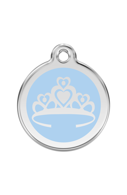 Light Blue Crown Pet Tag