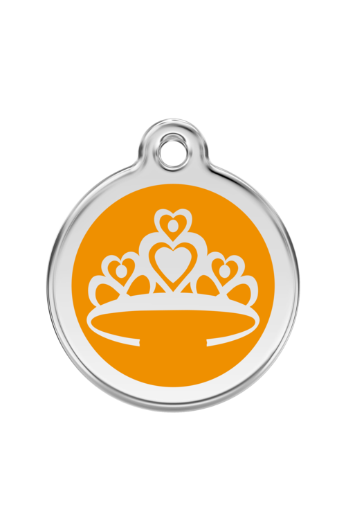 Orange Crown Pet Tag