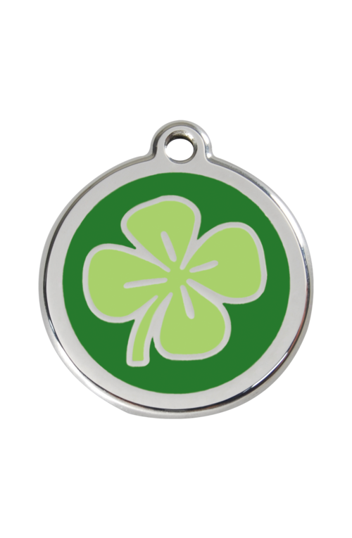Green Clover Pet Tag