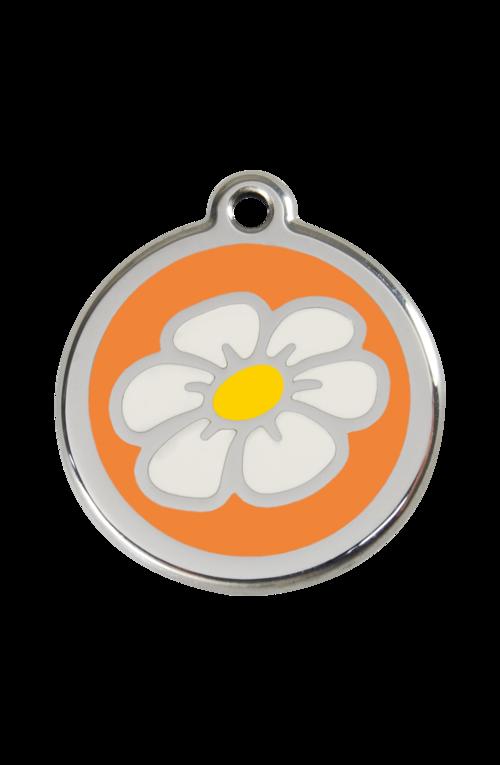 Orange Daisy Pet Tag