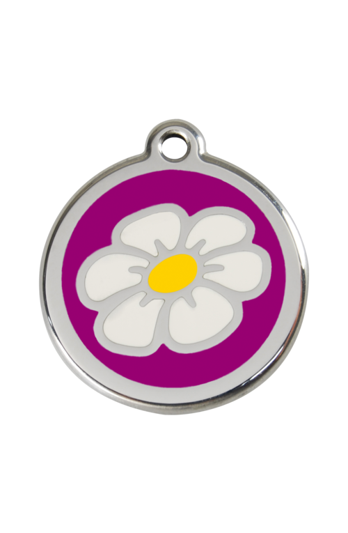 Purple Daisy Pet Tag