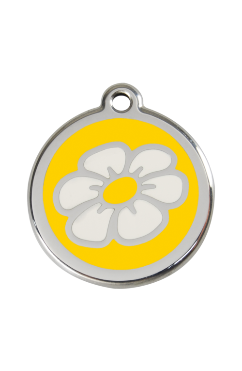 Yellow Daisy Pet Tag