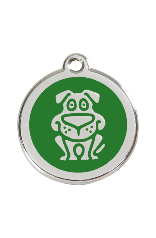 Green Dog Pet Tag