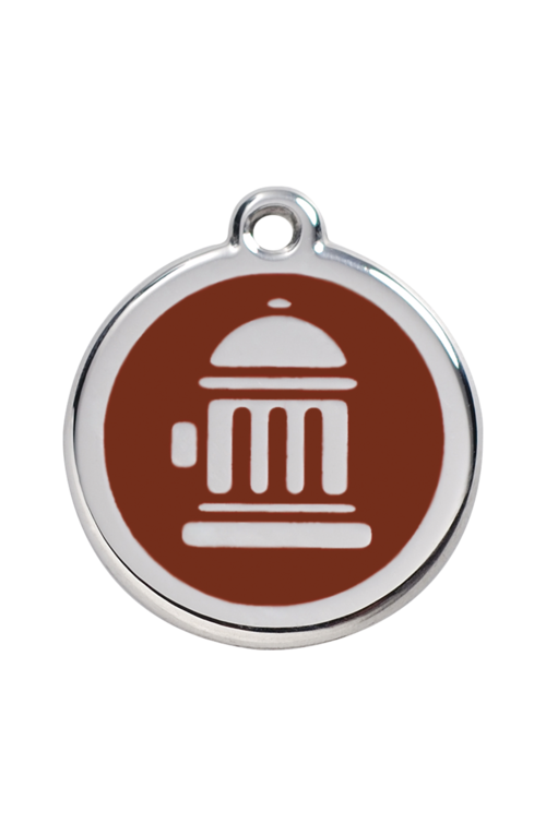 Brown Fire Hydrant Pet Tag