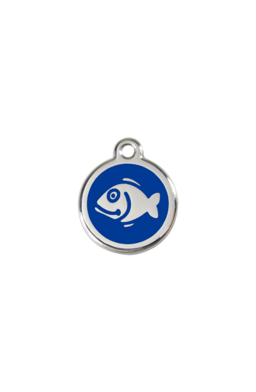Dark Blue Fish Pet Tag