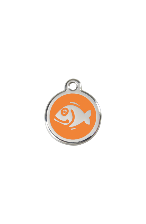 Orange Fish Pet Tag