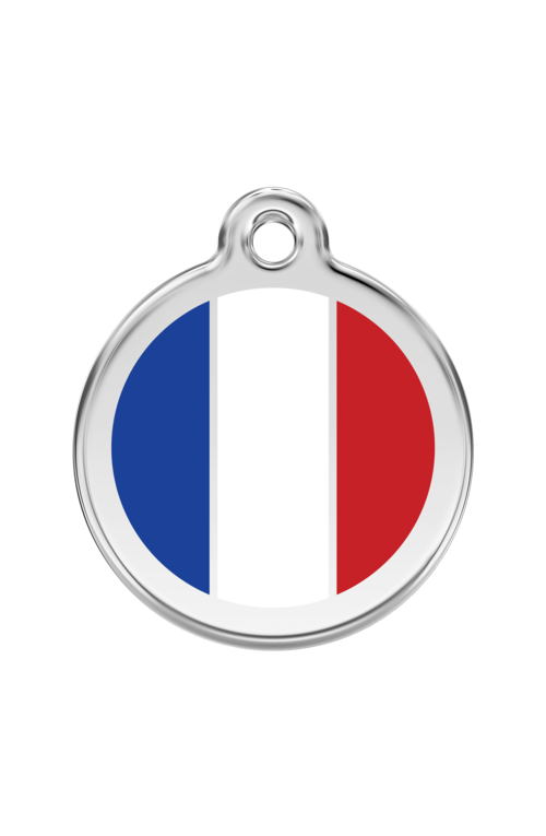 White French Flag Pet Tag
