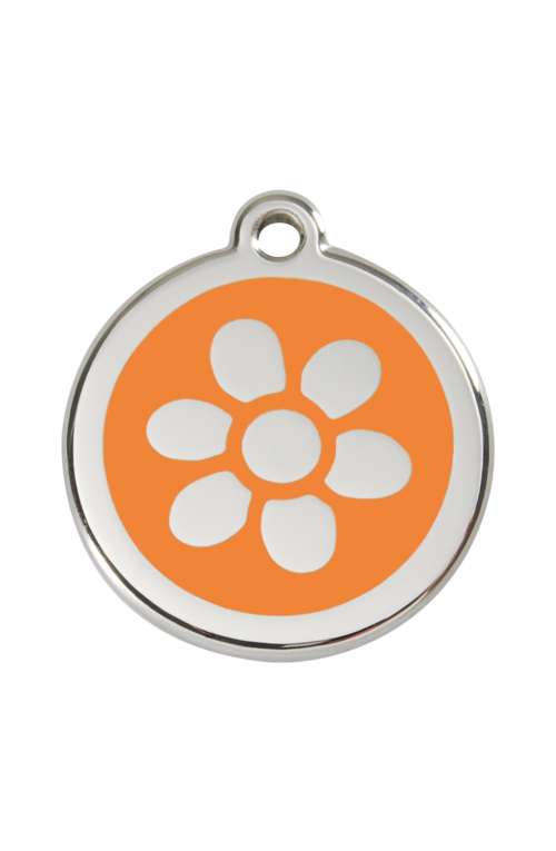 Orange Flower Pet Tag
