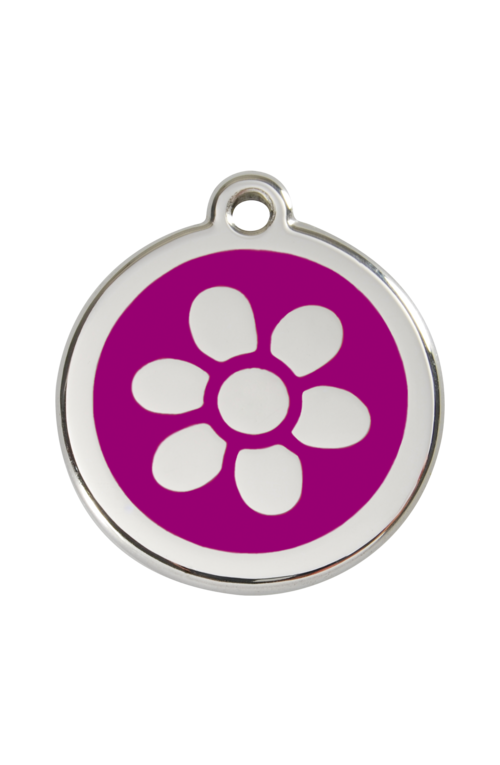 Purple Flower Pet Tag