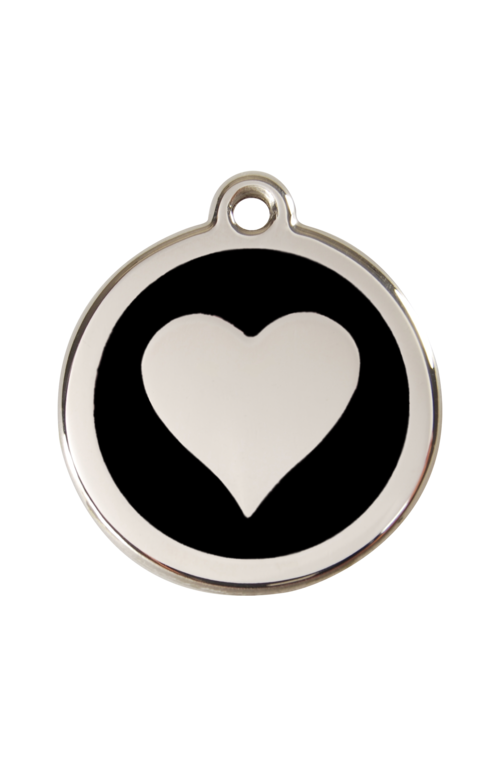 Black Heart Pet Tag