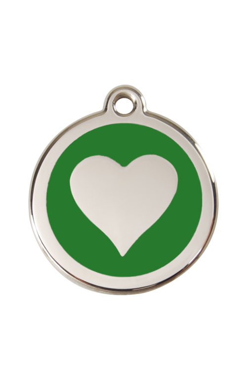 Green Heart Pet Tag