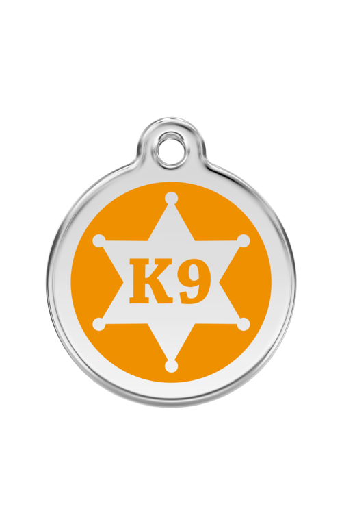 Orange K9 Sheriff Pet Tag