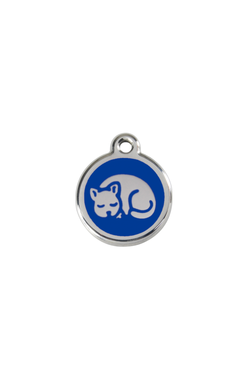 Dark Blue Kitten Pet Tag