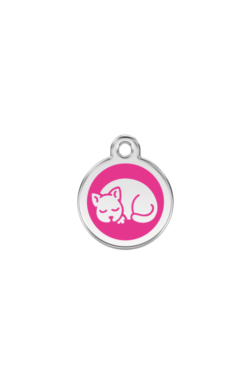 Hot Pink Kitten Pet Tag