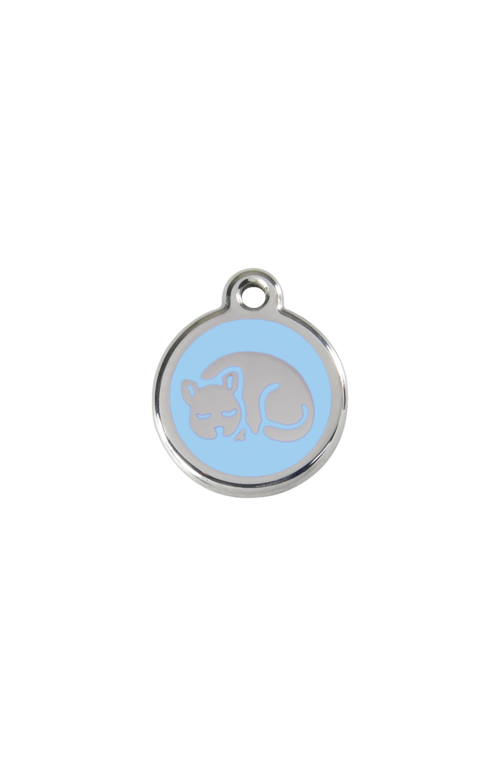Light Blue Kitten Pet Tag