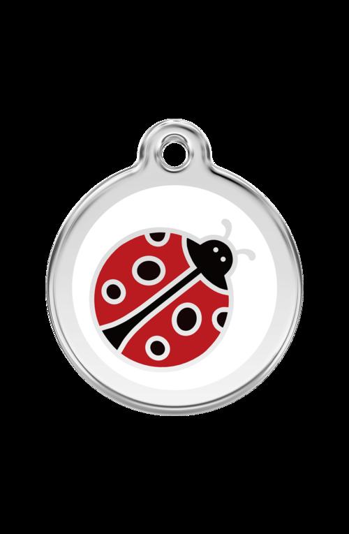 White Ladybug Pet Tag