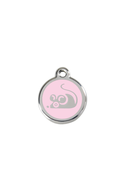 Pink Mouse Pet Tag