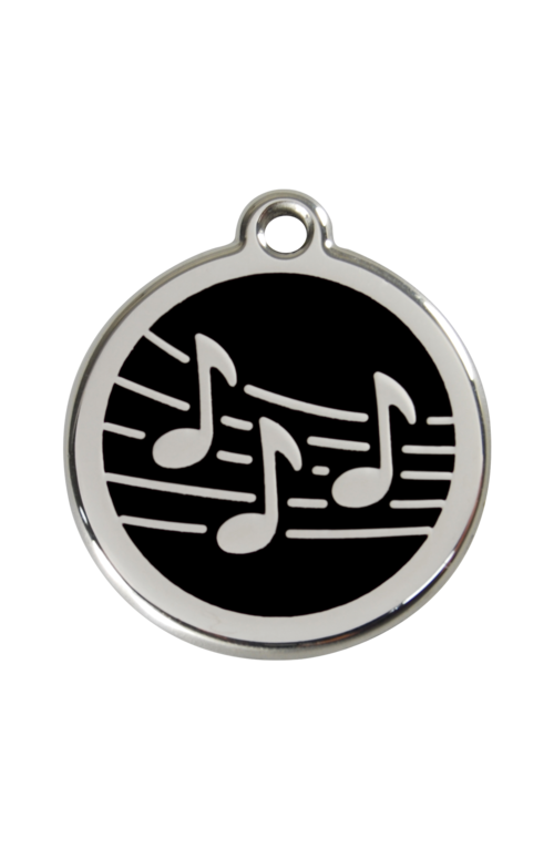 Black Music Pet Tag