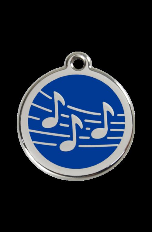 Dark Blue Music Pet Tag