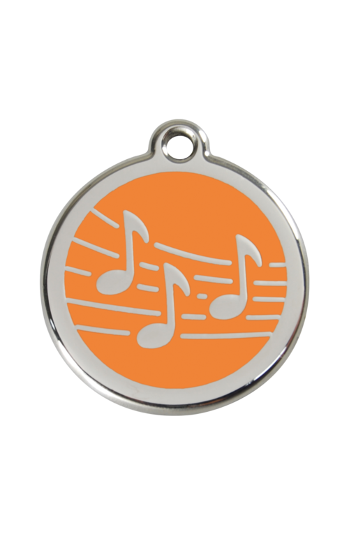 Orange Music Pet Tag