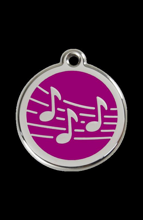 Purple Music Pet Tag