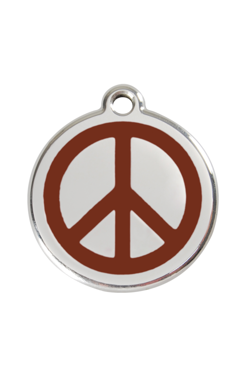 Brown Peace Pet Tag