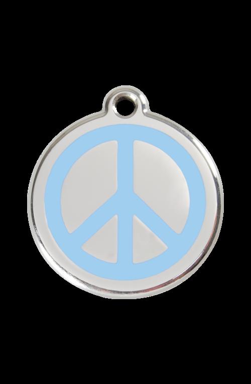 Light Blue Peace Pet Tag