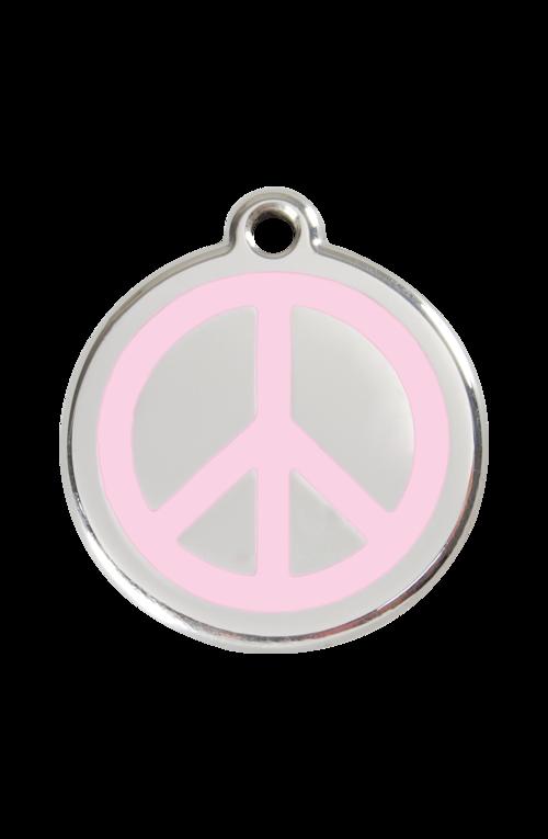 Pink Peace Pet Tag