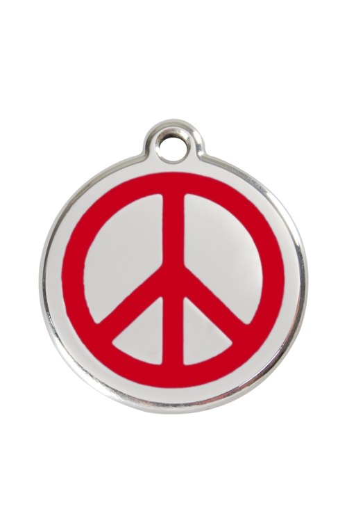 Red Peace Pet Tag