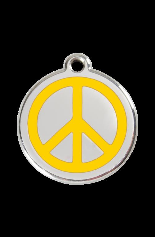 Yellow Peace Pet Tag