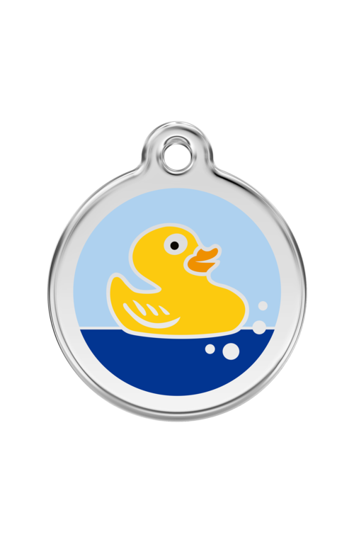 Light Blue Rubber Duck Pet Tag