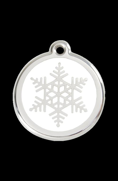 White Snowflake Pet Tag