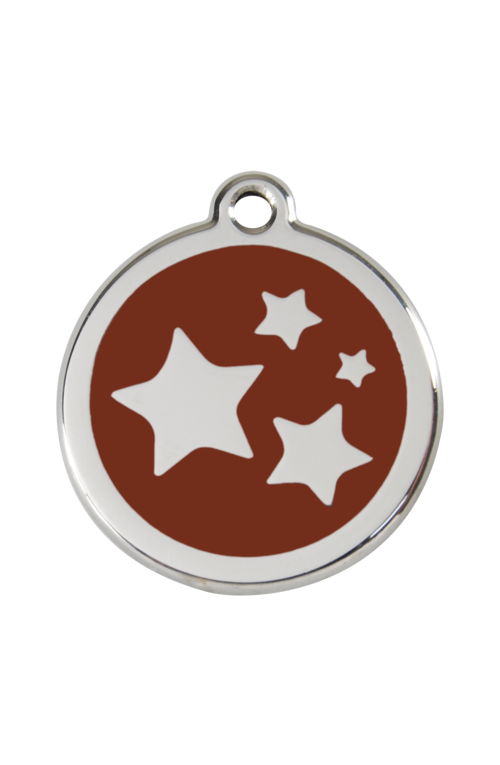 Brown Star Pet Tag