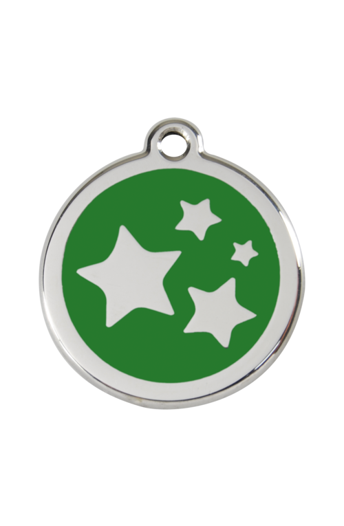 Green Star Pet Tag