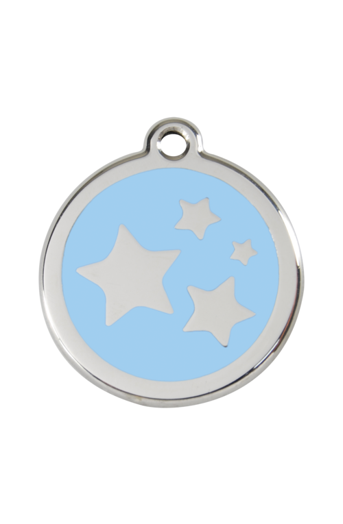 Light Blue Star Pet Tag