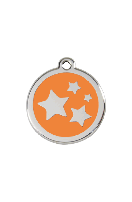 Orange Dog Star Pet Tag