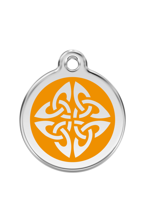 Orange Tribal Arrows Pet Tag
