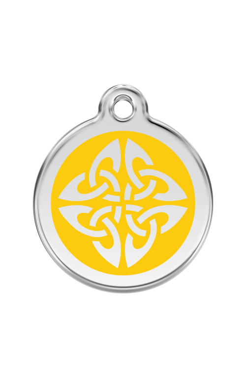 Yellow Tribal Arrows Pet Tag