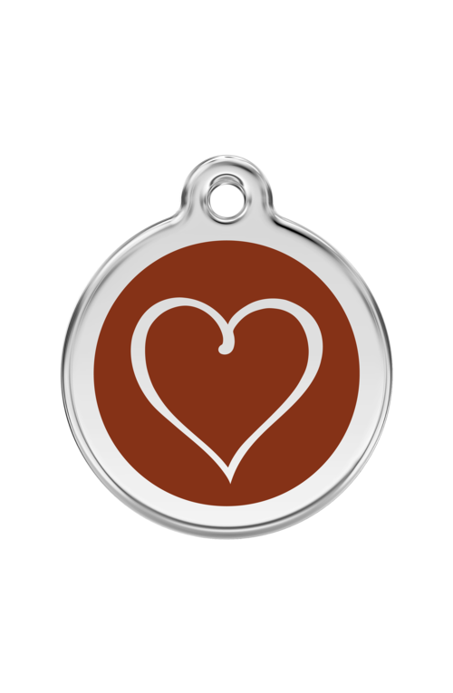 Brown Tribal Heart Pet Tag